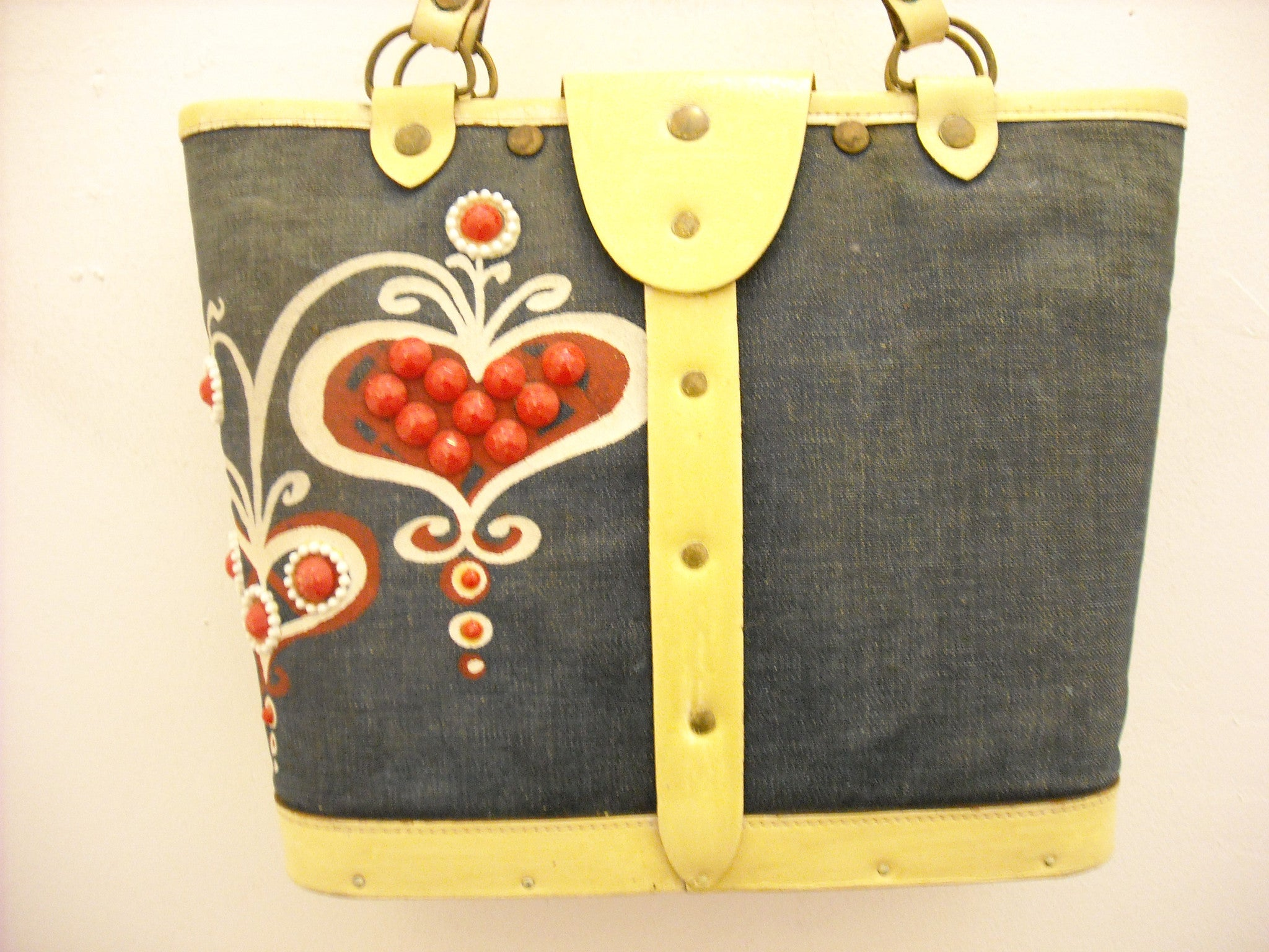 Vintage Enid Collins red, white & blue bag
