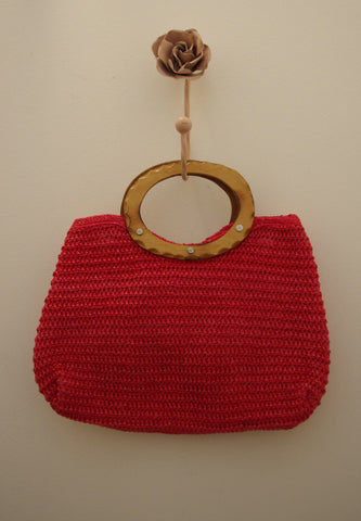 Raspberry Joy vintage bag