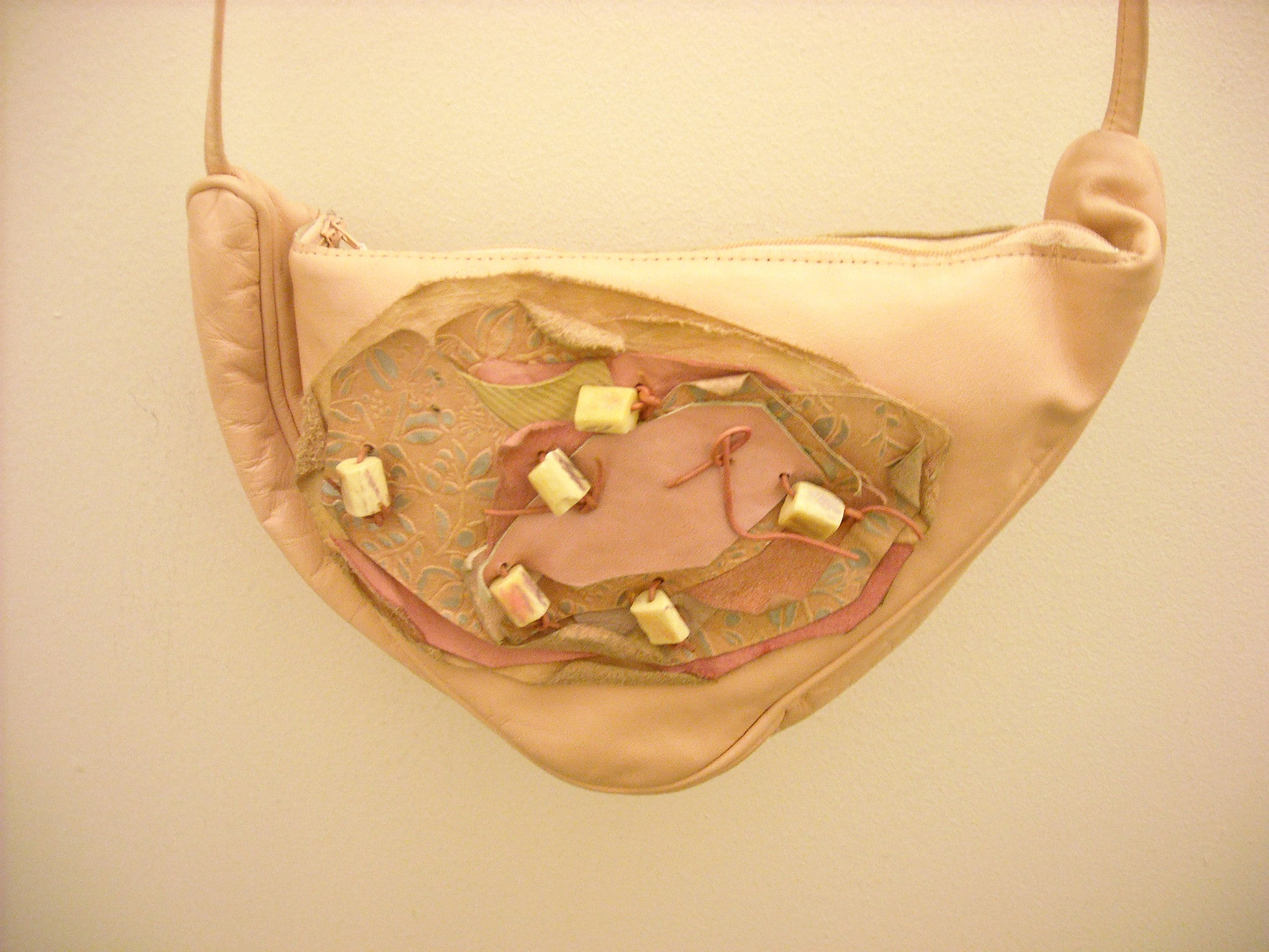 Quirky in Pink Leather Sling Bag