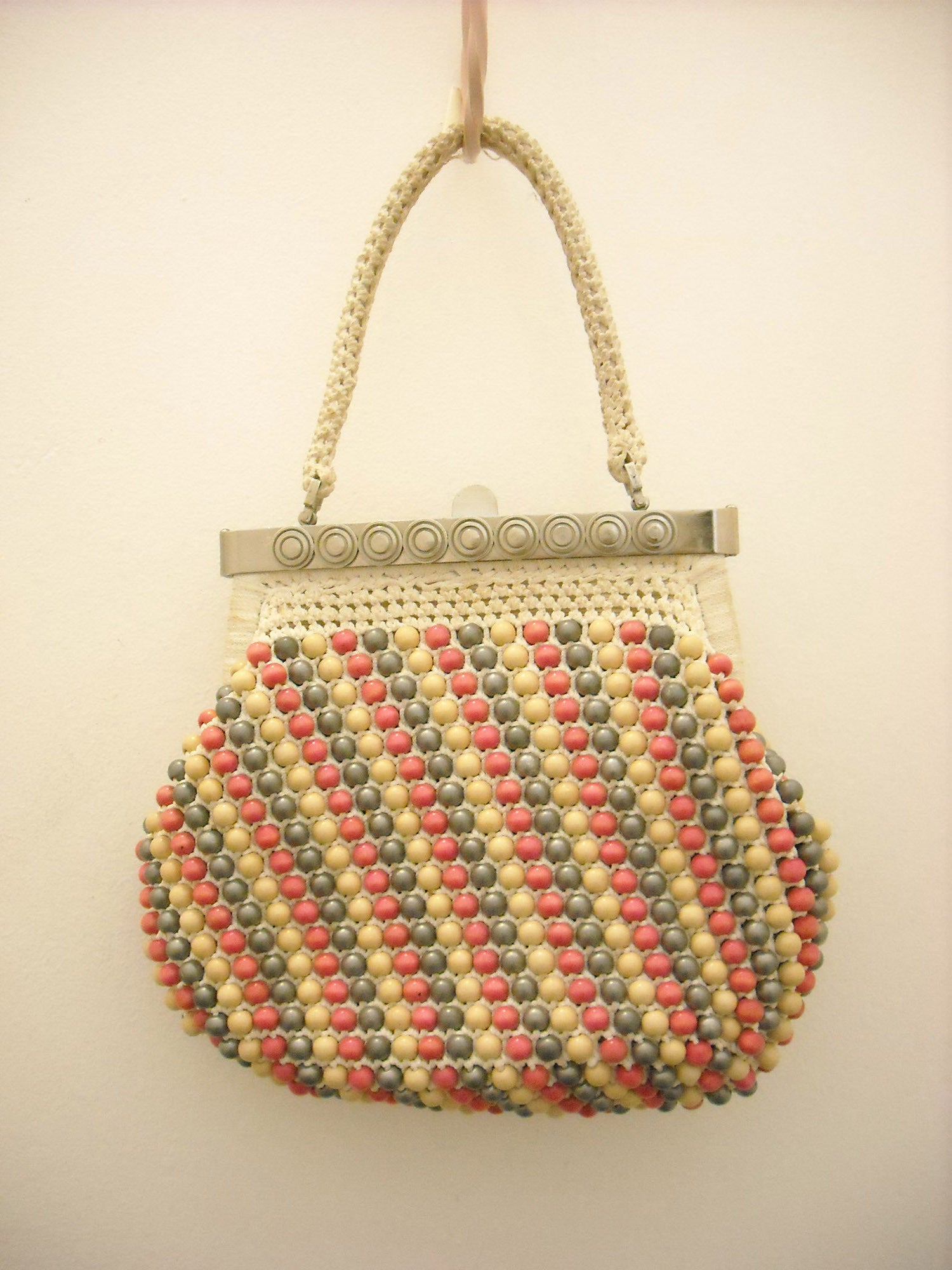 60's Bead Power! Vintage Bag