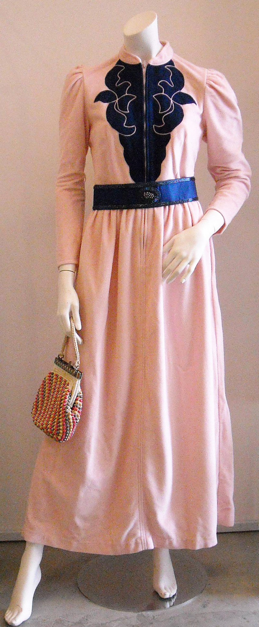 Vintage Oscar de la Renta Pink Terry Dress