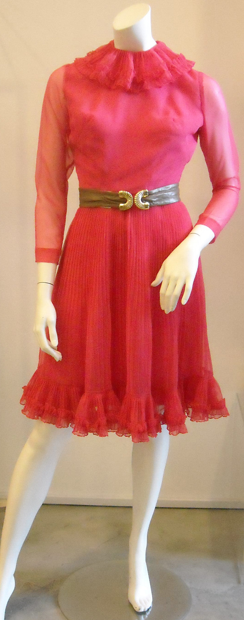 Frou Frou Fuschia Vintage Dress