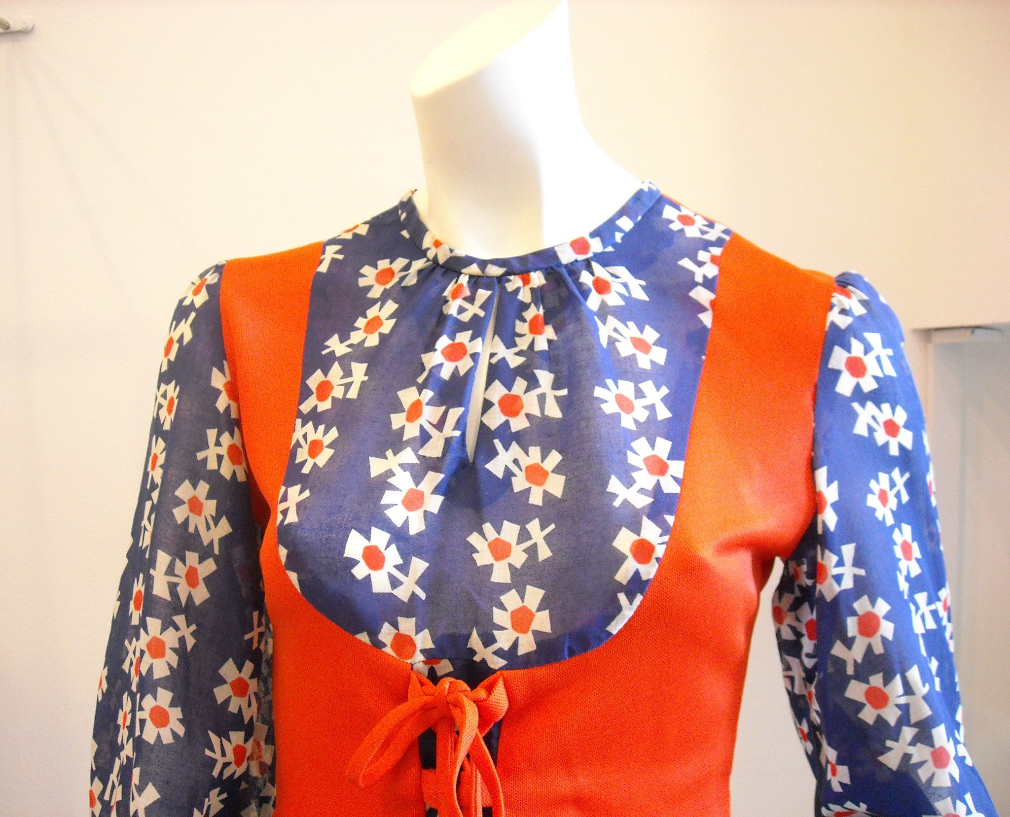 Cheeky Sexy Cool in Red & Blue Vintage Dress