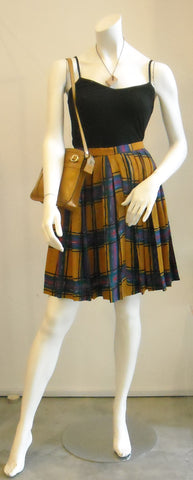 Eat Plaid Love Vintage Skirt