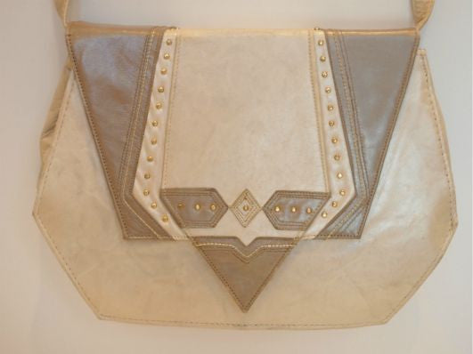 Irregularly Angular Vintage Cream Bag