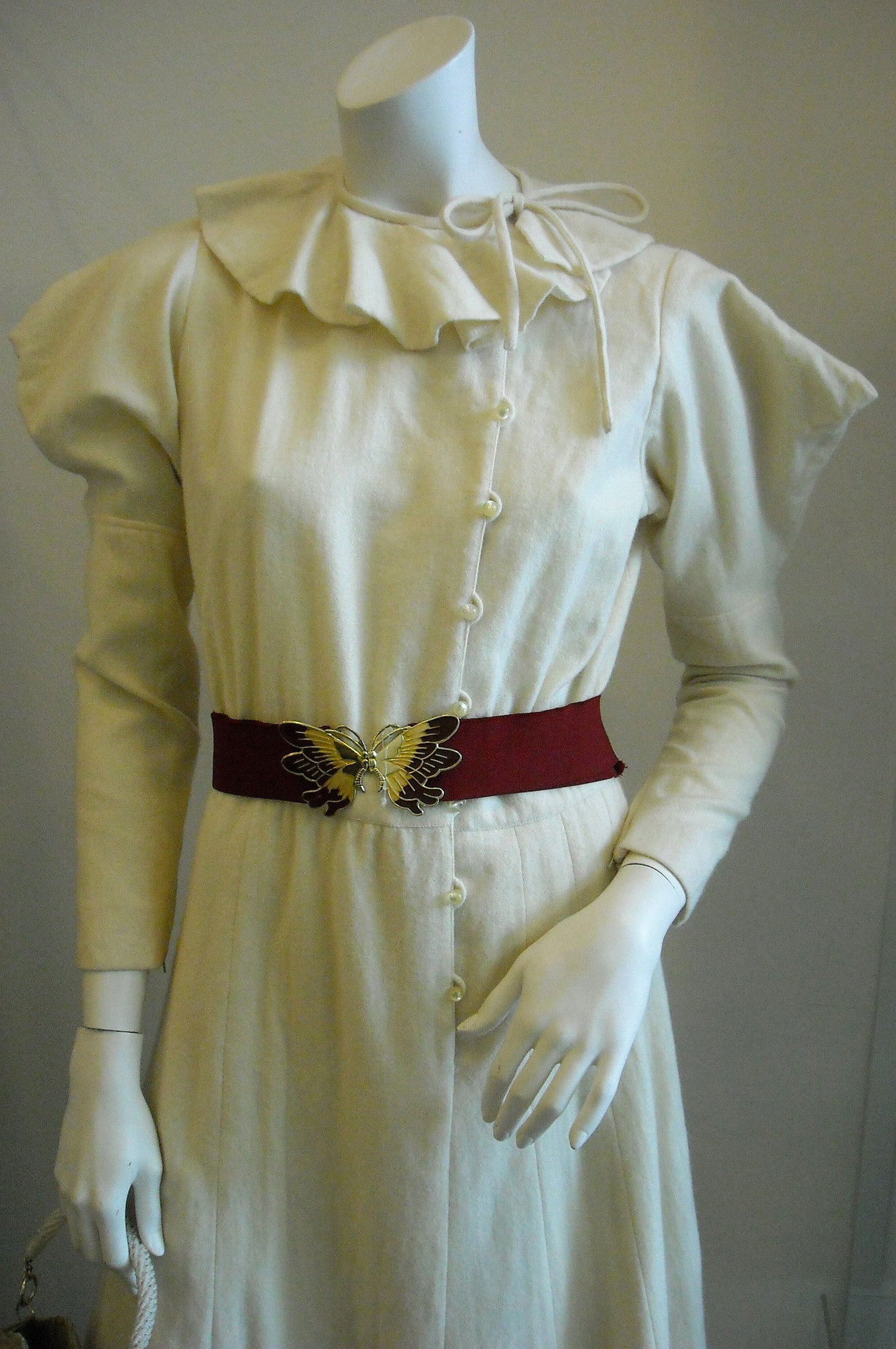 At The Edge Of Cool Vintage Emanuel Ungaro Cream Avant Garde Dress