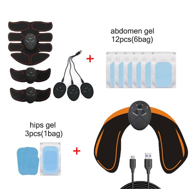 Rechargeable Wireless Muscle Trainer ABS Massage