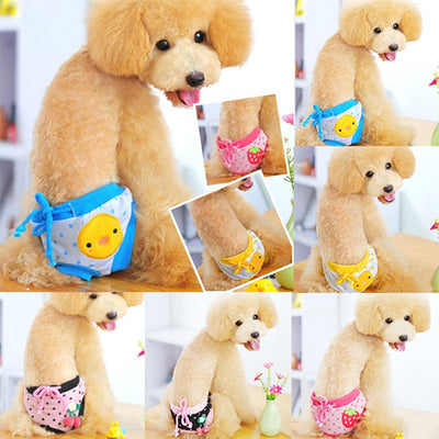 Dog Physiological Pants Cute Strawberry Print Diaper