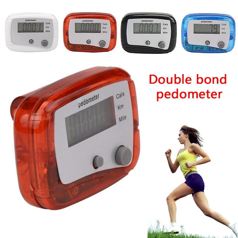 Pedometers Step Calorie Hiking Walking Running 2 Keys Counter Tool