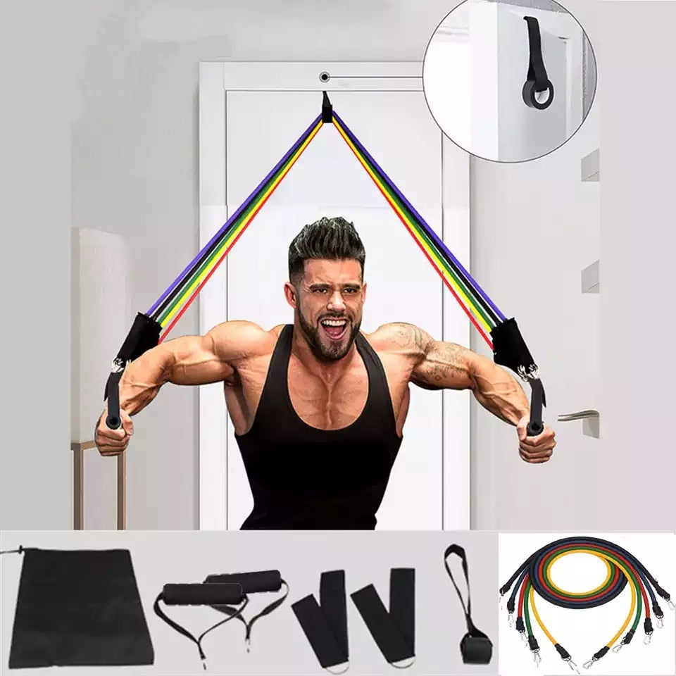 11 Pcs Resistance Bands Set Pull Rope