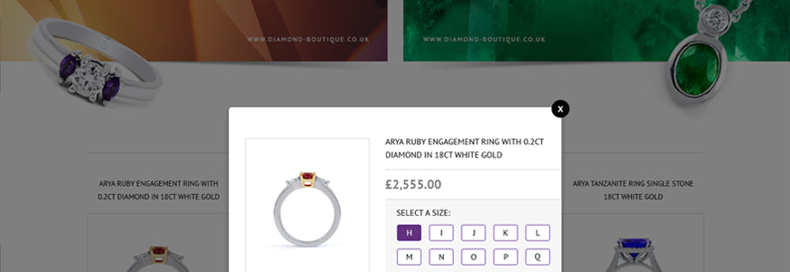 Diamond Boutique Magento ecommerce store, with custom development by TheGenieLab