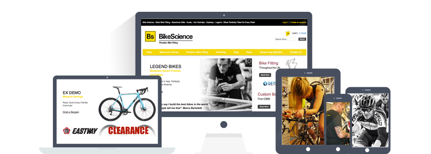BikeScience are road bike specialists who relaunched their ecommerce site on Shopify