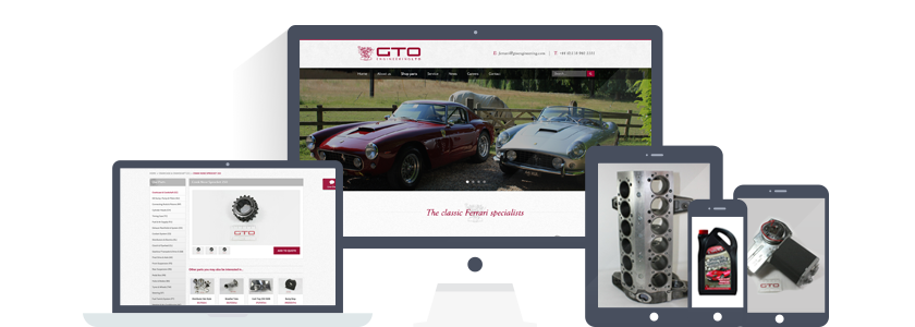 GTO Engineering - classic Ferrari specialists Shopify ecommerce store