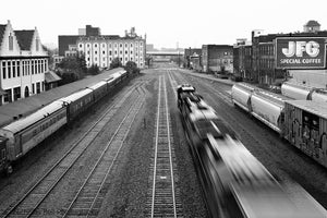Norfolk Southern Railroad, black and white photography
