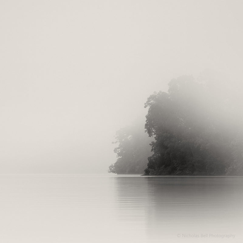 lake photography print, lake house art, foggy