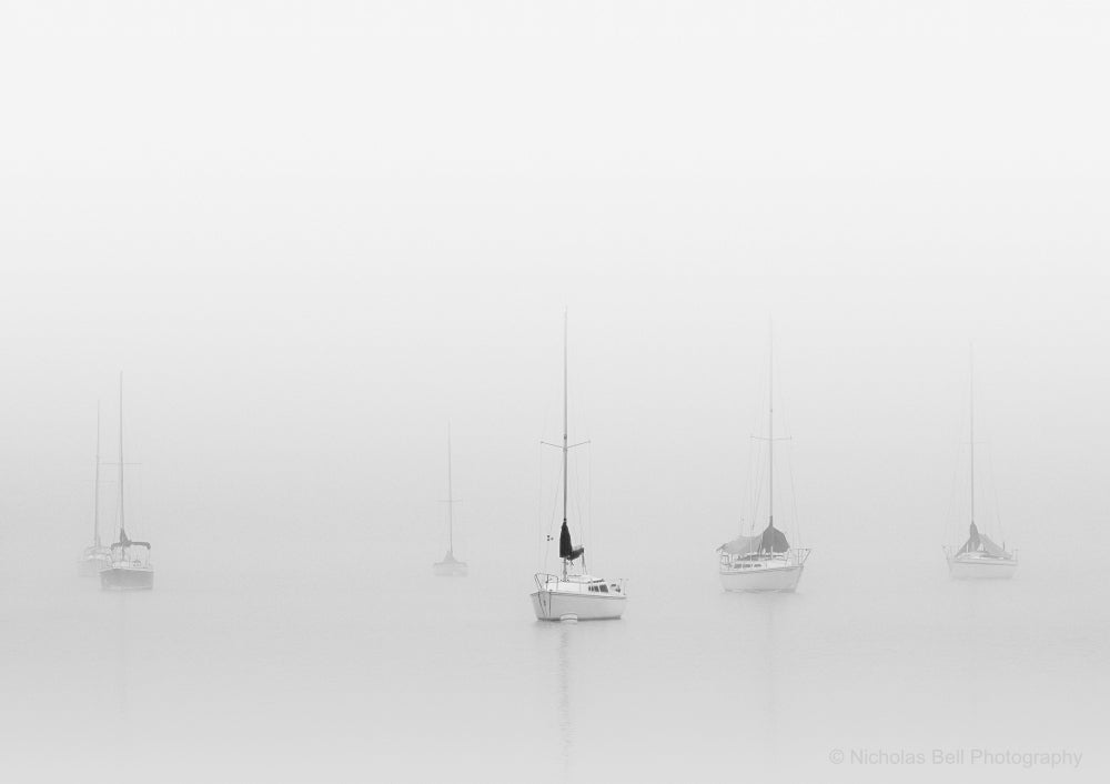 black and white sailboat photography