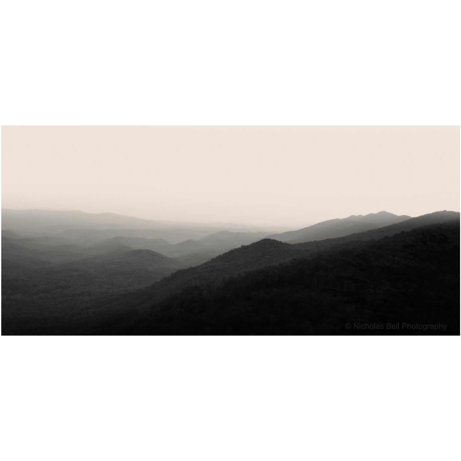 smoky mountains photography print