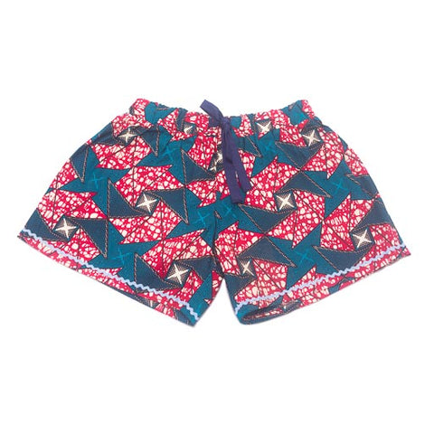 Women's Boxers Shorts - Dark Pink Multi