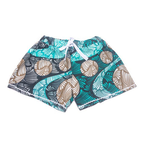 Women's Boxer Shorts - Green Multi