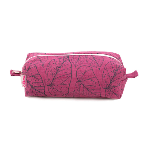 Large Makeup Bag - Dotty Leaf