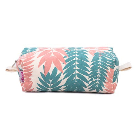 Large Makeup Bag - Flame Leaf