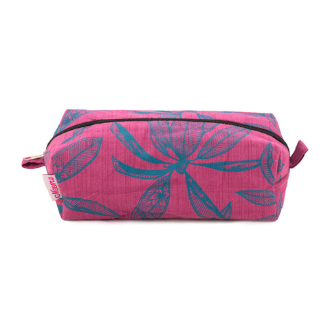 Large Frangipani Make up Bag