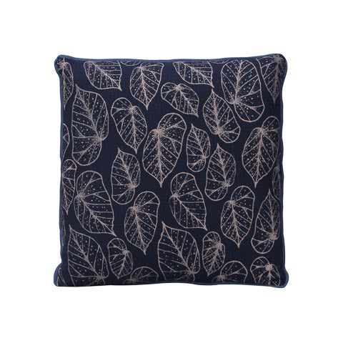 Square Dotty Leaf Cushion Cover