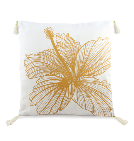 Square Hibiscus Cushion
