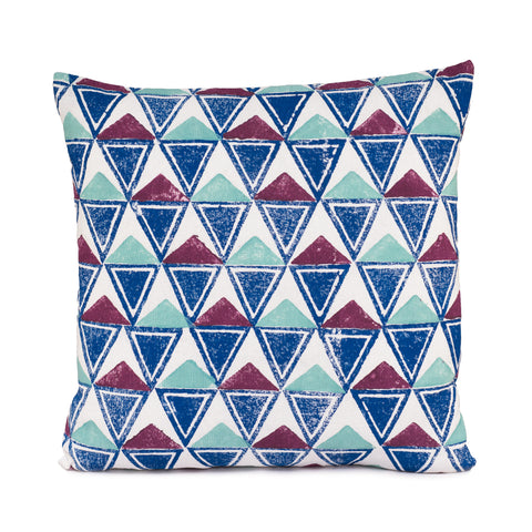 Square Block Print Cushion