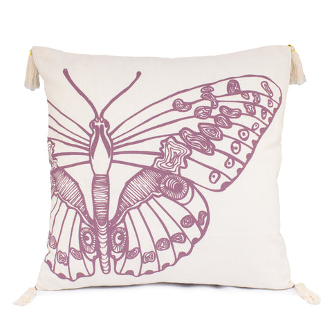 Square Butterfly Cushion Cover