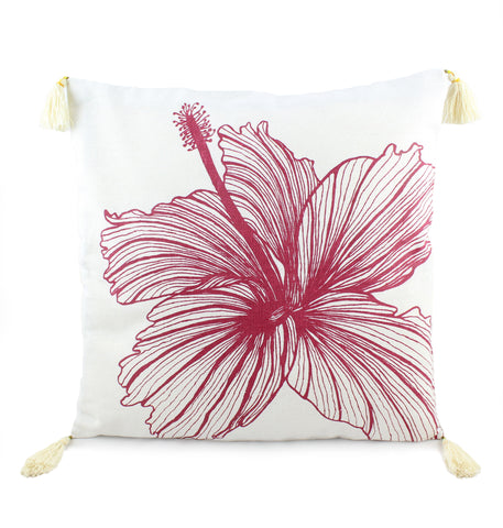 Square Hibiscus Cushion Cover