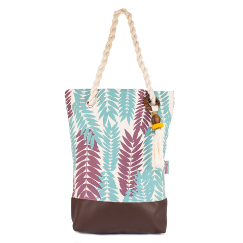 Flame Leaf Tote Bag