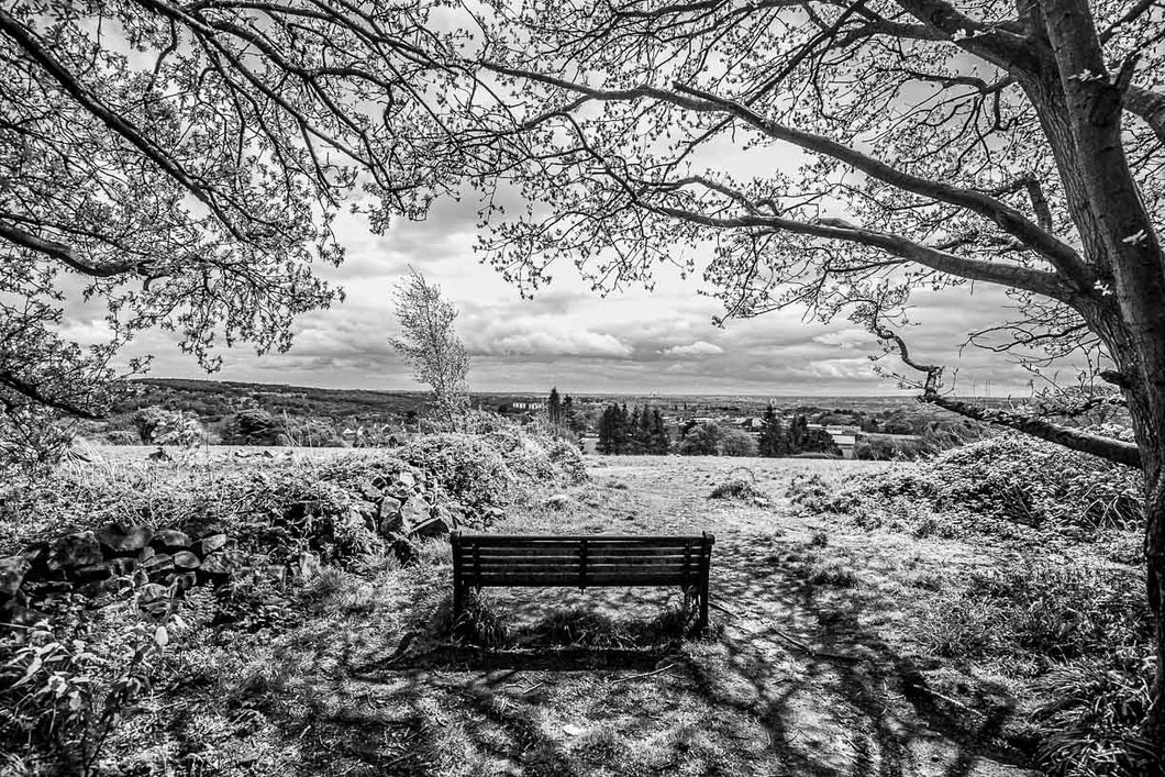 Hunger Hills Horsforth Monochrome print