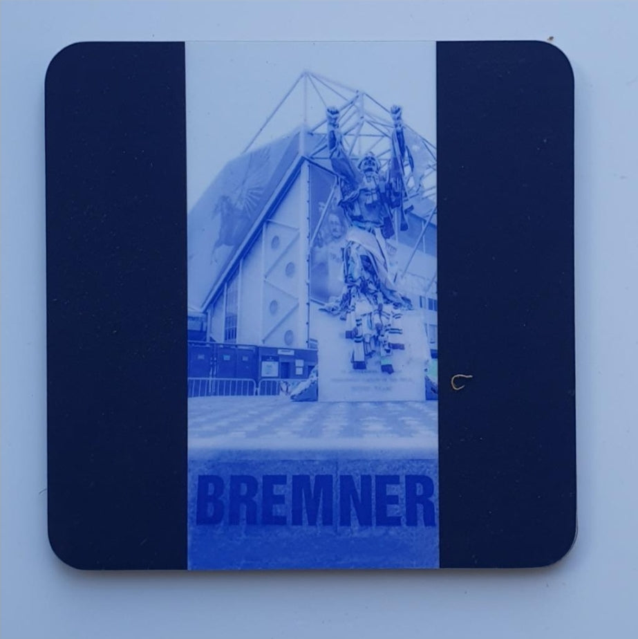 LUFC Coaster 9  - Billy Bremner Blue