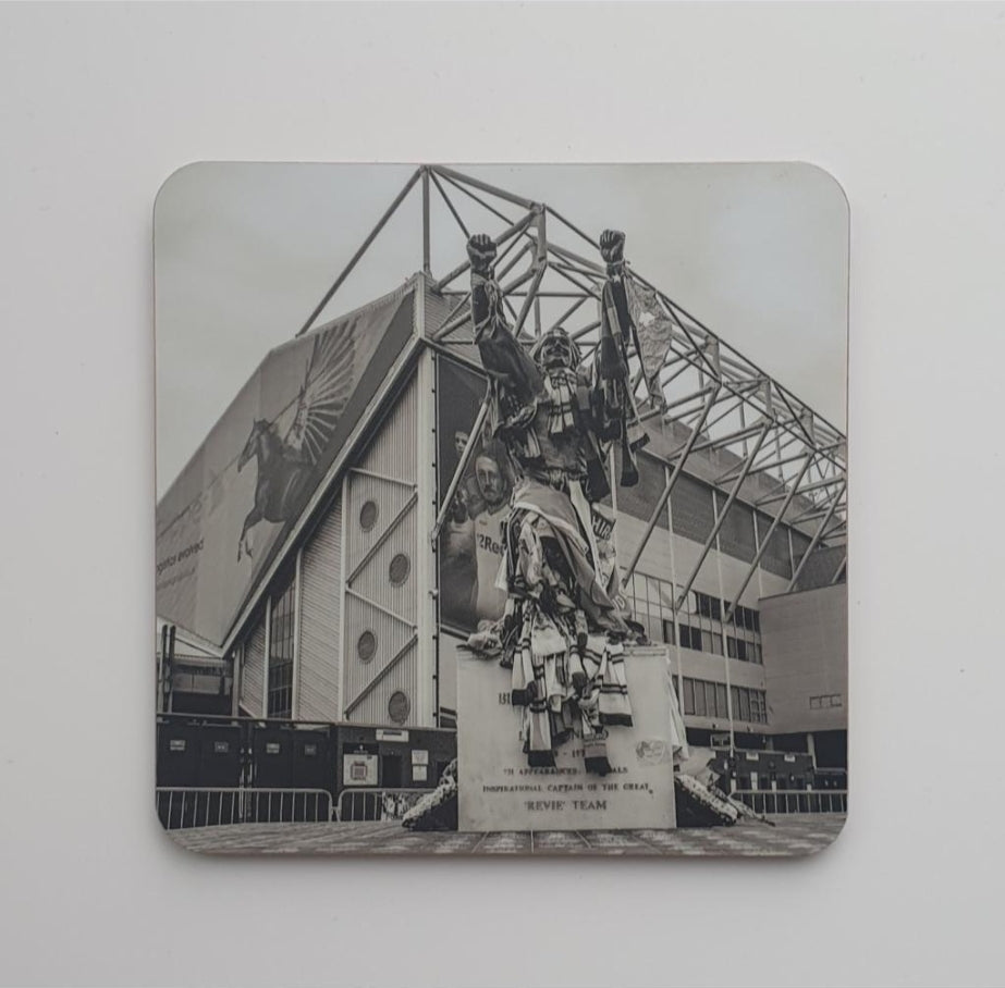 LUFC Coaster 2 - Leeds United Billy Bremner mono coaster