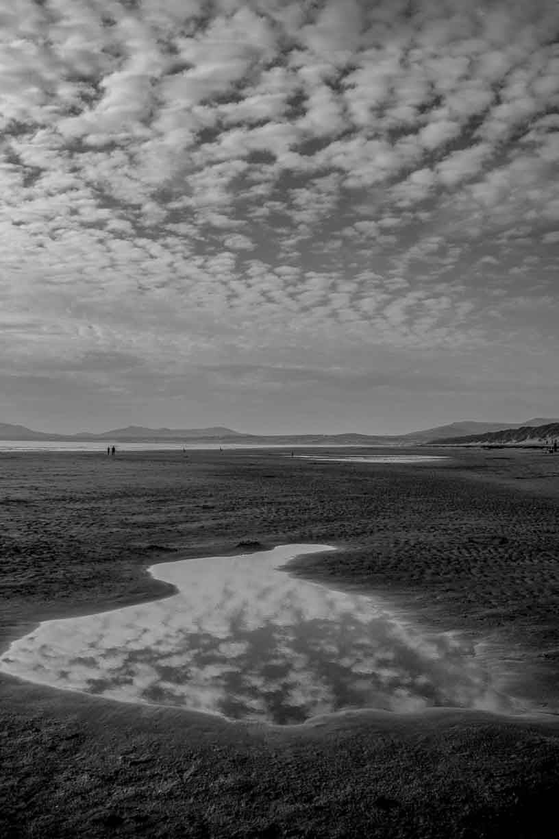 Harlech Beach reflection