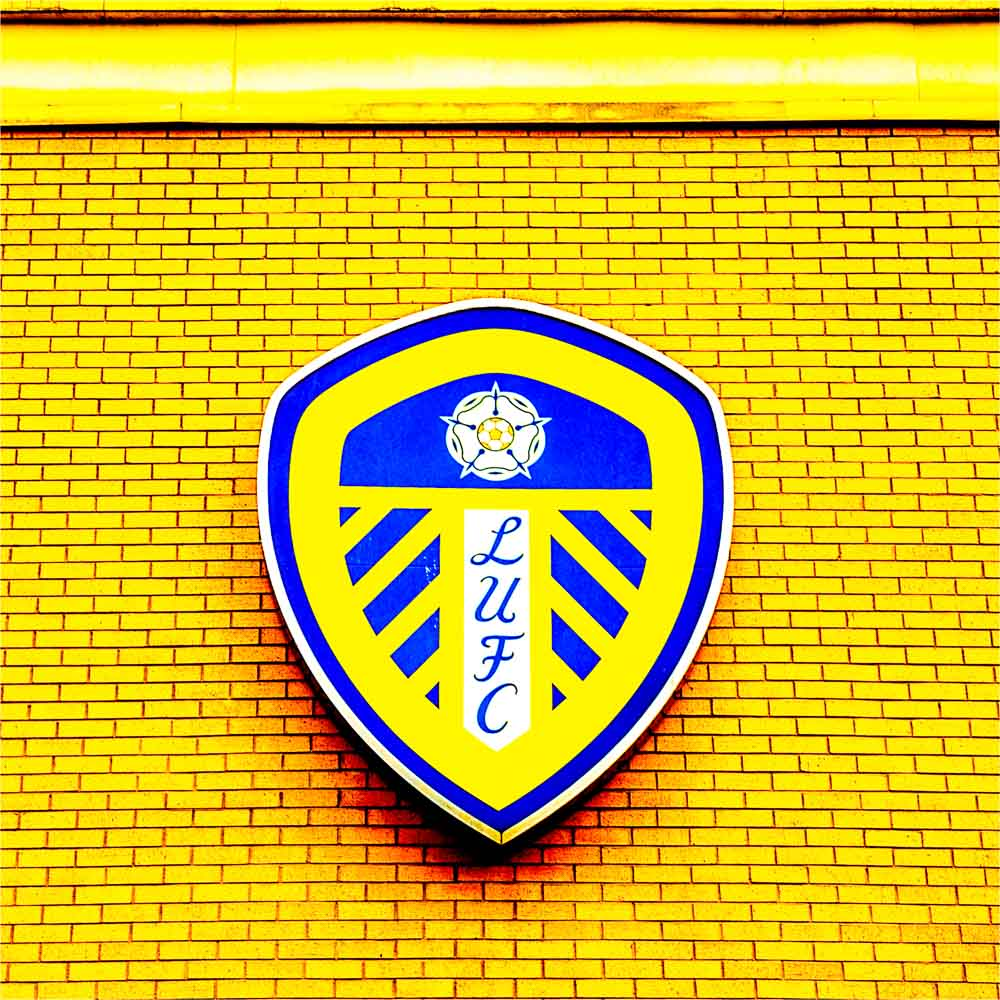 LUFC print - Yellow badge Elland Road