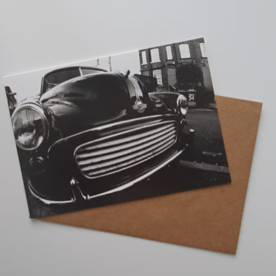 Morris Minor art card