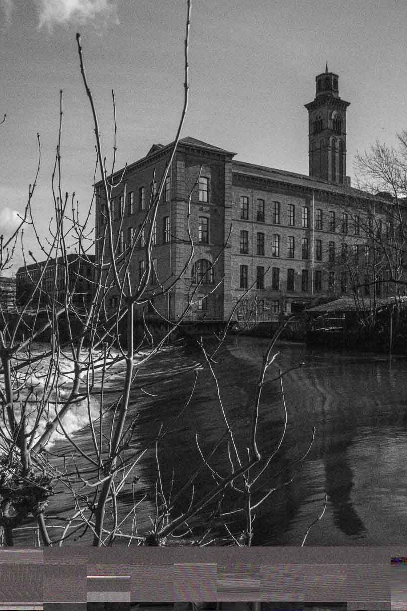 New mill reflection Saltaire