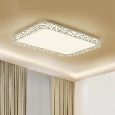 D07Yl 110W Rectangle Style Hollow LED Ceiling Light Pro For Mihome APP Remote Night Light