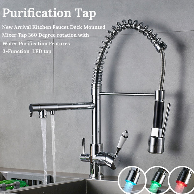Deck Mounted Mixer Tap | 3 Way-360 Degree Rotation | LumuloxDecor.com