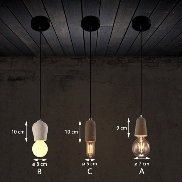 Colorful Nordic Cement Pendant lights