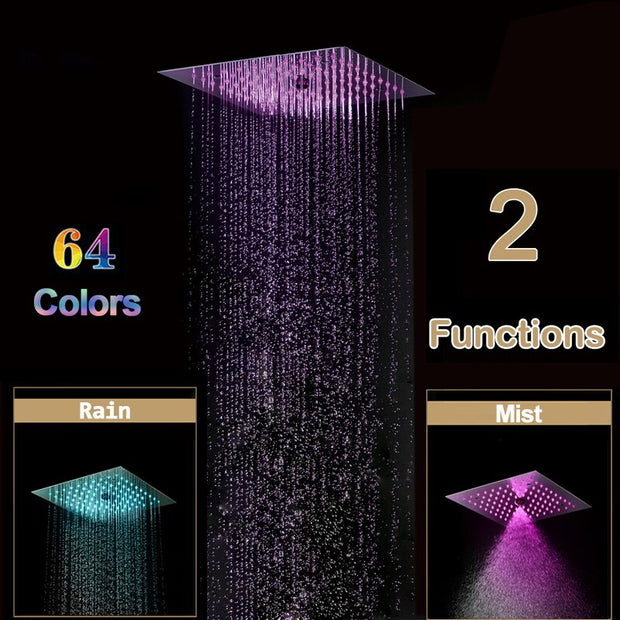 Mystic - Luxury Thermostatic 64 Colors  LED Mist Shower System 2