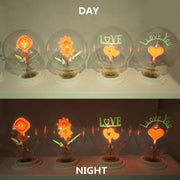 Vintage G80 Edison Bulb LED E27 Flower Love Rose lamp incandescent bulb indoor night light Holiday christmas wedding decor