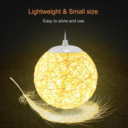 Projection Lamp Romantic Star Night Light Rattan Ball Table Lamp USB Charging Sepak Takraw Light For Home Bedroom Decor
