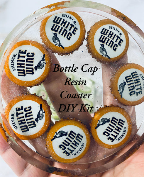Bottle Cap Resin Art Coaster DIY Craft Kit