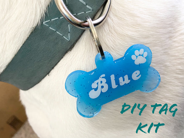 Dog Tag DIY Craft Kit Resin Epoxy Do It Yo