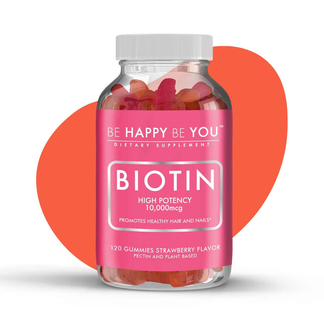 10,000 MCG Biotin Gummy Vitamin - 120 gummies