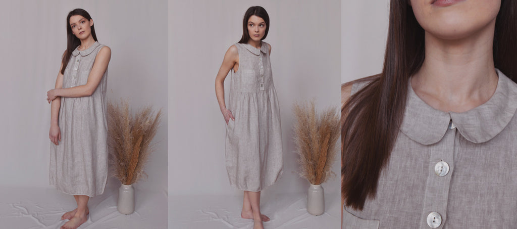 linen dress, summer linen dress, midi linen dress, linen clothes, linen clothing, summer dress