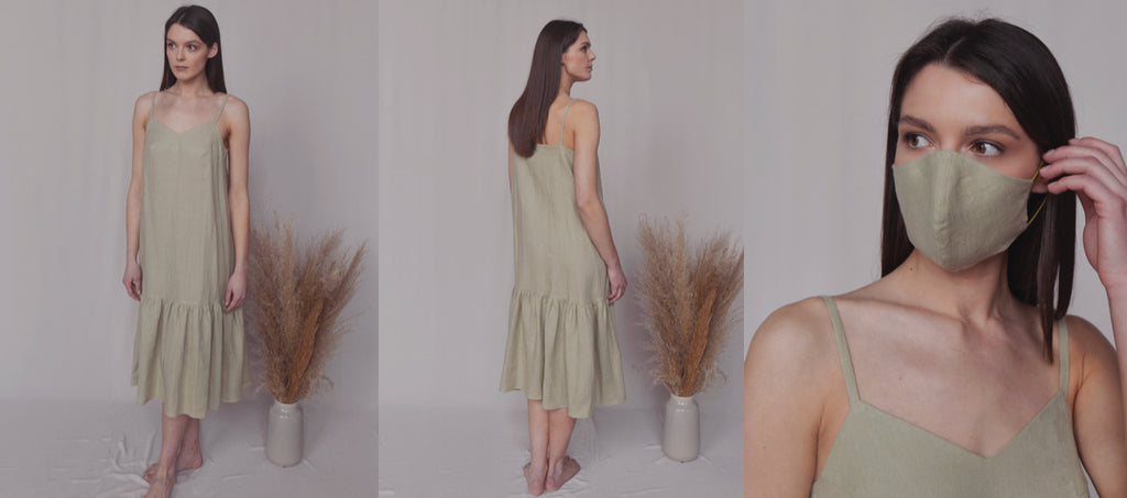 linen dress, summer linen dress, pale green dress, summer dress, midi linen dress, line clothes